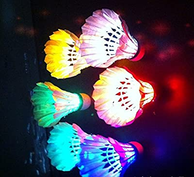 BLUBOON(TM) Brand New LED Badminton Shuttlecock Dark Night Glow Birdies Lighting For Indoor Sports Activities