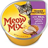 Meow Mix Tender Favorites Real Turkey & Giblets in Sauce, 2.75-Ounce Cups (Pack of 24) For Sale