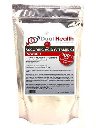 Pure Ascorbic Acid (1 kilogram (2.2 lb)) Vitamin C Powder Bulk Supplements