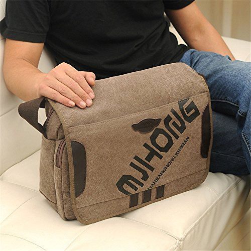 Wenjack Bag Unisex Khaki For Bags Crossbody Purse Men's Business Canvas Shoulder Casual Messenger color Travel Coffee Man Work rrcdqa0B