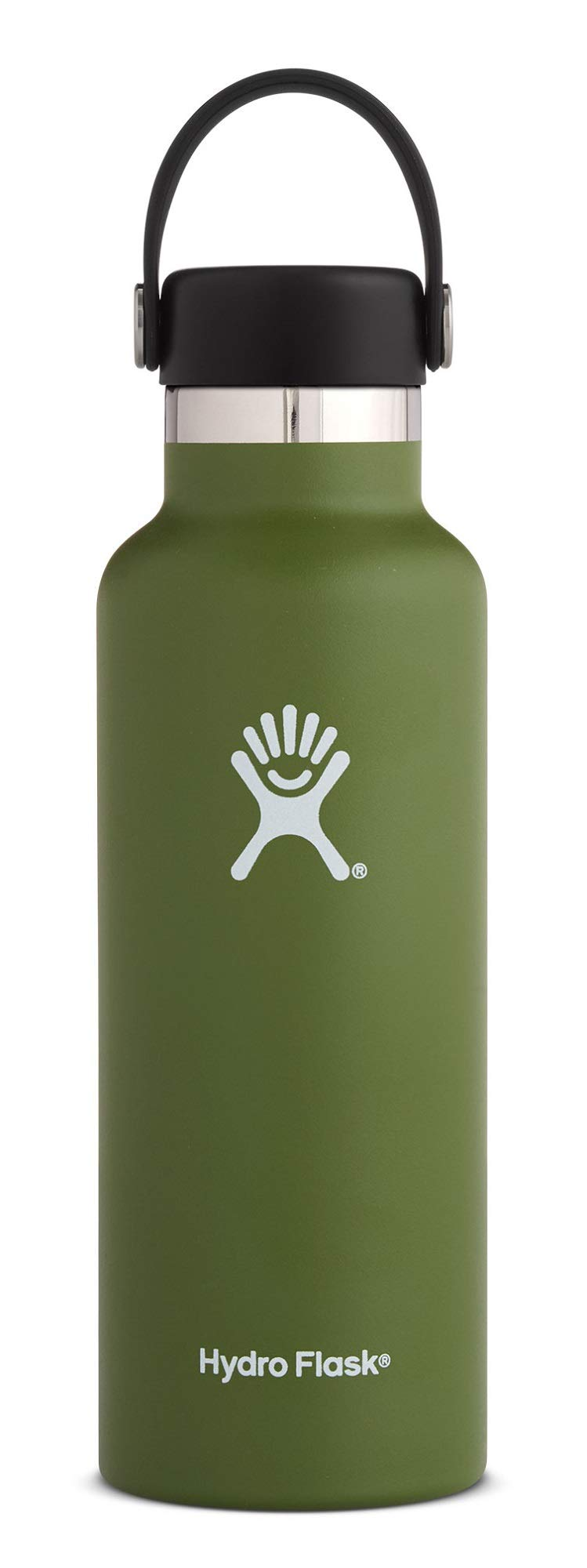 Hydro Flask, 18 Ounce Standard Mouth Flex Cap Olive