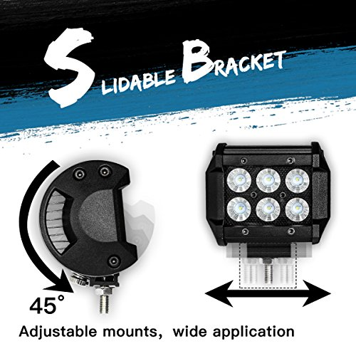 CREE-LED-Pods-DJI-4X4-2PCs-LED-Light-Bar-Flood-Beam-Offroad-Driving-Fog-Lights-Unique-Black-Panel-for-Trucks-Jeep-SUV-ATV-UTV-Boat-Motorcycle