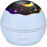 SlowTon Starry Night Light Projector, LED Lamp Star Moon Projector Rotating Night Light Sleep Soother for Baby Kids…