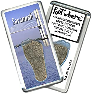 product image for Savannah FootWhere Souvenirs Fridge Magnet. Made in USA (SV205 - Gateway)