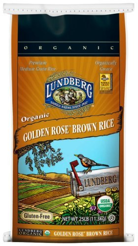 Lundberg Family Farms Organic Golden Rose Medium Grain Brown Rice, Packaging May Vary, 400 Ounce (Pack of 1) by Lundberg