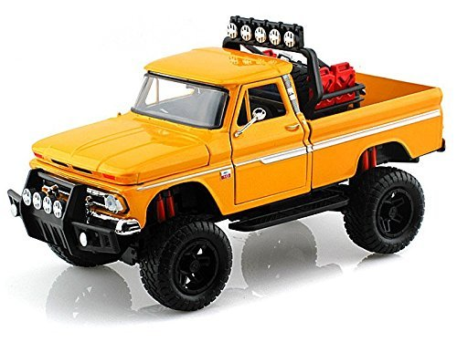 1966 Chevy C10 Fleetside Pickup Off Road 1/24 Yellow by Chevrolet