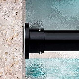 RoomDividersNow Premium Tension Curtain Rod, 80in-120in (Black)