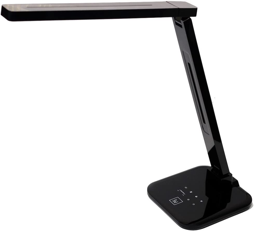 Lightblade 1500S by Lumiy (Series 2) LED Desk Lamp with Best in Class Brightness at 1500 lux and Color Rendering at 93 CRI, Pivoting Head, Captive Touch Controls for Brightness & Color Temperature