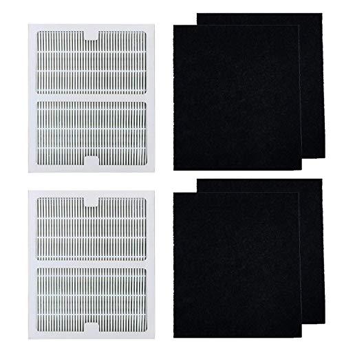 HEPA Filters B Compatible Idylis Air Purifier,2 pcs HEPA Filter & 4 Carbon Prefilters,Compatible Idylis 2126 2125 IAP-10-125 IAP-10-150 Model # IAF-H-100B
