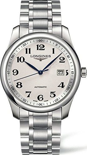 - Longines L28934786 Master Collection Automatic Mens Watch - Silver Dial