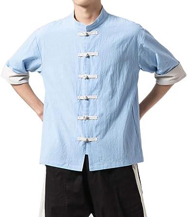 GladiolusA Camisa De Kung Fu De Estilo Chino con Botones Blusa De Lino: Amazon.es: Ropa y accesorios