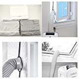 DZT1968 Window Soft Baffle for Portable Air Conditioner,Sealing AC with Zip and Adhesive
