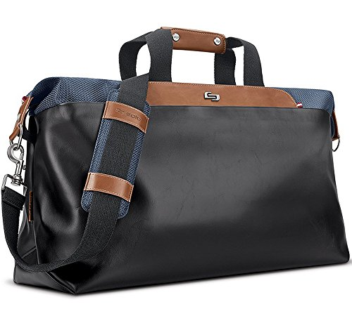 (Solo Montauk Duffel Bag with Laptop and Tablet Protection, Navy)