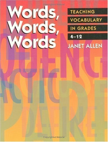 Download Words, Words, Words: Teaching Vocabulary in Grades 4-12 Pdf