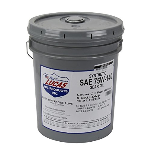 Lucas Oil 10123 Synthetic Sae 75w-140 Trans & Differetial Lube/1x1/5 Ga