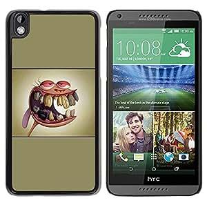 CASEX Cases / HTC DESIRE 816 / Ren & St1Mpy # / Delgado Negro Plástico caso cubierta Shell Armor Funda Case Cover Slim Armor Defender