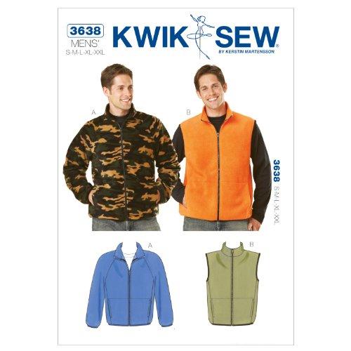 Kwik Sew K3638 Jacket and Vest Sewing Pattern, Size S-M-L-XL-XXL