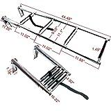 Amarine-made 4 Step Stainless Steel Telescoping Boat Ladder Swim Step