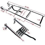 Amarine-made 4 Step Stainless Steel Telescoping Boat Ladder Swim Step