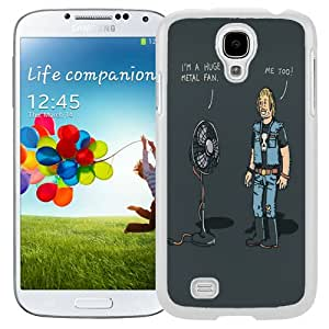 Beautiful Unique Designed Cover Case For Samsung Galaxy S4 I9500 i337 M919 i545 r970 l720 With Fans White Phone Case