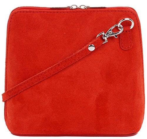 Primo Sacchi cuir Suede italien petit/micro sac de carrosserie ou sac à bandoulière sacs à main. Comprend un sac de rangement de marque Rouge