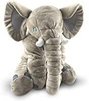 Giant Stuffed Elephant Toy - Cute Soft Plush Cuddly Fabric - Great Gift Idea for Kids & Adults