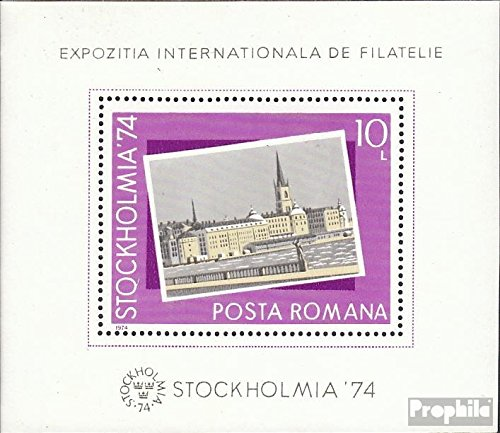 (Romania Block 116 (Complete.Issue.) 1974 Stamp Exhibition (Stamps for Collectors))