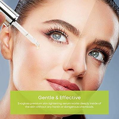 Skin Lightening Serum Dark Spot Corrector with Kojic Acid -Natural Skin Lightener Whitening Serum For Body, Face, Neck, Bikini, Sensitive Areas & All Skin Types - 20ml by Evagloss