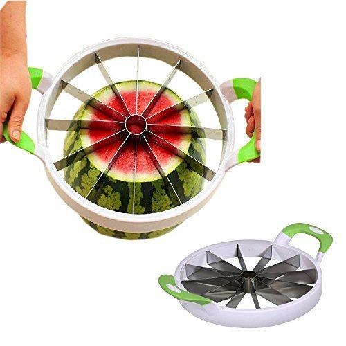Slice Watermelon (NEX Watermelon Slicer Fruit Cutter Kitchen Utensils Gadgets Large Melon Slicer)
