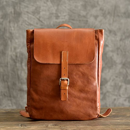 Handmade Vintage Leather School Backpack Travel Rucksack Gym Bag Handbag by Jellybean Gorilla
