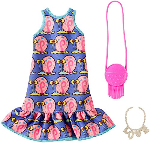 Barbie SpongeBob Gary Purple Dress Fashion Pack