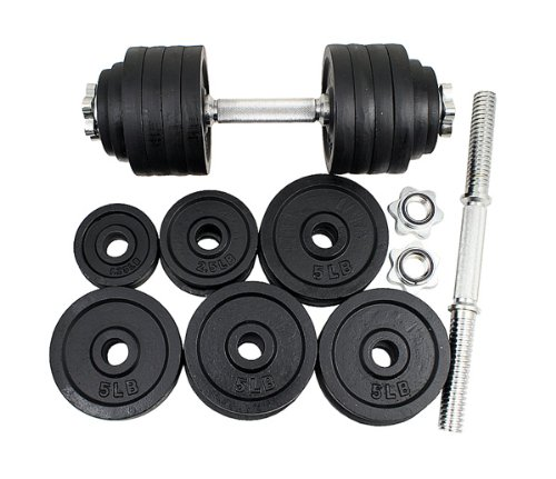 New one pair of 200 Lbs (100lbs x 2pc) adjustable cast Iron dumbbell kit with stainless steel handle