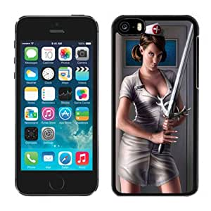 Beautiful And Unique Designed With Girl Nurse Sword Weapon Suit White Dressing Gown For iPhone 5C Phone Case