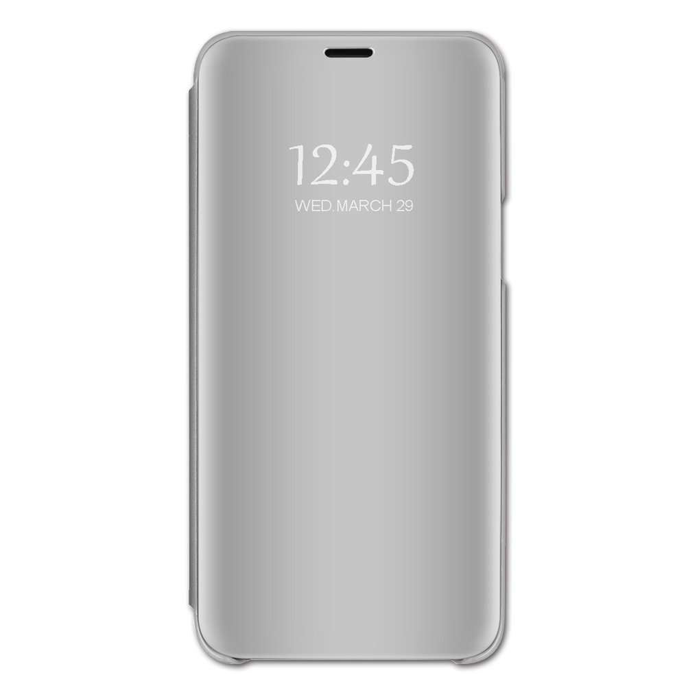 Case Compatible Samsung Note 9, Vertical Flip Smart Mirror Scratchproof Cover for Samsung Note 9 (Samsung Note 9, Silver)