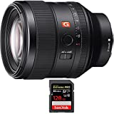 Sony FE 85mm F1.4 GM Full Frame E-Mount Lens (SEL85F14GM) with Sandisk Extreme PRO SDXC 128GB UHS-1 Memory Card, Up to 95/90MB/s Read/Write Speed