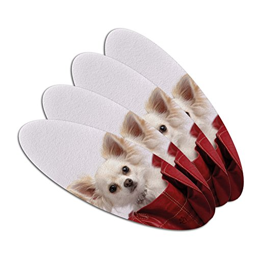 Chihuahua Puppy Dog in Handbag Double-Sided Oval Nail File E