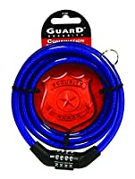 Guard Security 516A Cable Combo Lock, Assorted