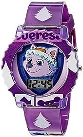 Nickelodeon Kids' PAW4020 Digital Display Quartz Purple Watch