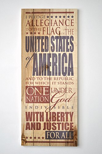 Pledge Allegiance to the Flag 9 x 22 Wood Pallet Design Wall Art Sign Plaque - Americana Decor