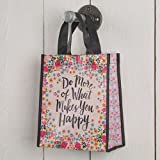 Set of 3 of Recycled Bags - ''Do More Happy'' Medium (Includes 3 bags and 1 random colored Swarovski Crystal Pencil