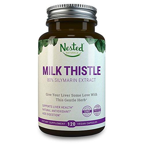 MILK THISTLE 250 mg | 120 Capsules | Pure Seed Extract - 80% Silymarin Standardized Quality | High Potency Liver Care, Detox and Cleanse Support for Men & Women | (Extract 120 Capsules)