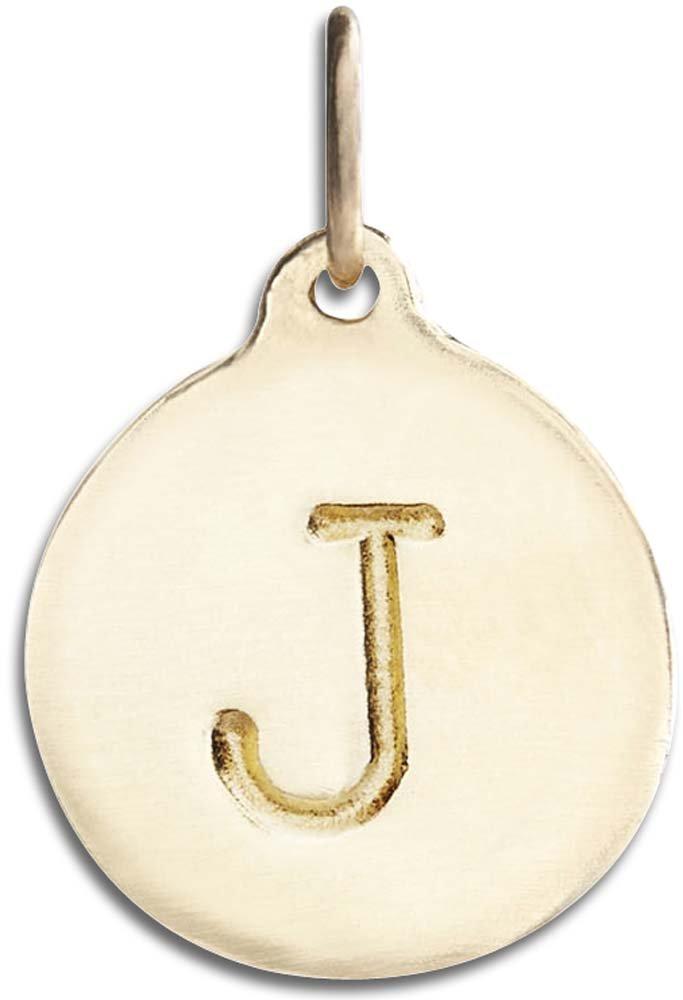 Helen Ficalora ''J'' Alphabet Charm Yellow Gold