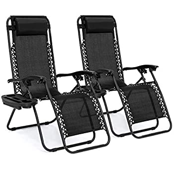 Best Choice Products Adjustable Zero Gravity Lounge Chairs - Set of 2