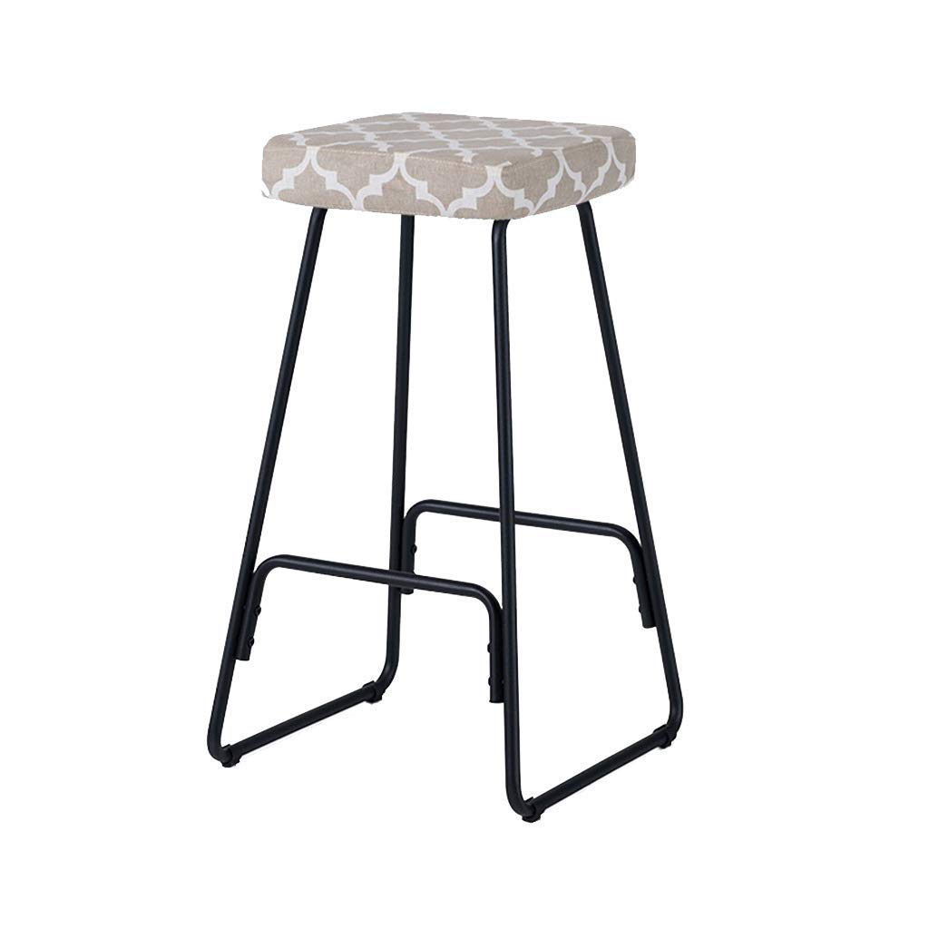 E Modern High Stool -bar Stool Kitchen Breakfast Stool, Iron Pedal JINRONG (color   C)