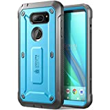 LG V30 Case, SUPCASE Full-body Rugged Holster Case with Built-in Screen Protector for LG V30, LG V30s,LG V35,LG V35 ThinQ,LG V30 Plus 2017 Release, Unicorn Beetle PRO Series(Blue/Gray)