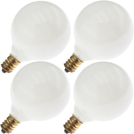 40G16.5//OW 40G16.5 40 Watt G16.5 Outside White Completion Facial Bulb 12-pcs