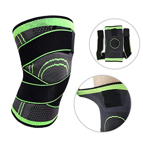 Knee Brace,C-Gardian 3XL 4XL Compression Support Knee Sleeve with Adjustable Strap Knee Pad for Pain Relief, Meniscus Tear, Arthritis, ACL, MCL, Suit for Running, Cycling, Tennis, Golf and Basketball