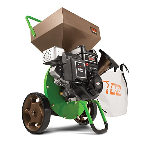 Earthquake Tazz K42 Chipper Shredder, 205cc Gas Powered 4-Cycle Briggs and Stratton Engine, 5 Year Warranty