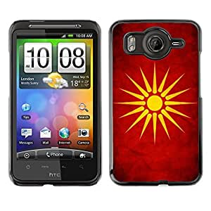 Shell-Star ( National Flag Series-Macedonia ) Snap On Hard Protective Case For HTC Desire HD / Inspire 4G