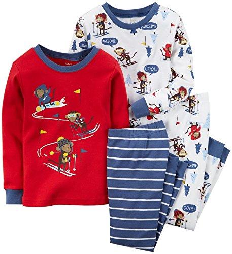 Carter's Baby Boy's Graphic Footie - Ski Monkey - 6 Months]()